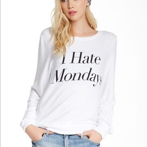 """Wildfox """"I hate Monday's"""" baggy beach jumper S"""